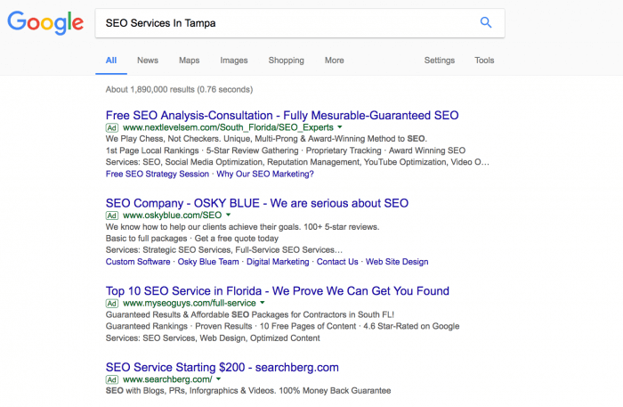 SEO Services In Tampa