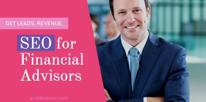 financial advisors seo